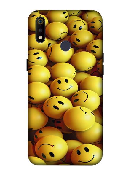 Oppo 3D Designer Smilies Balls Printed  Mobile Cover-Realme3i-MOB003096