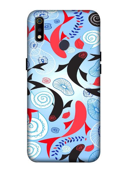 Oppo 3D Designer Stylish Fish Pattern Printed  Mobile Cover-Realme3i-MOB003101