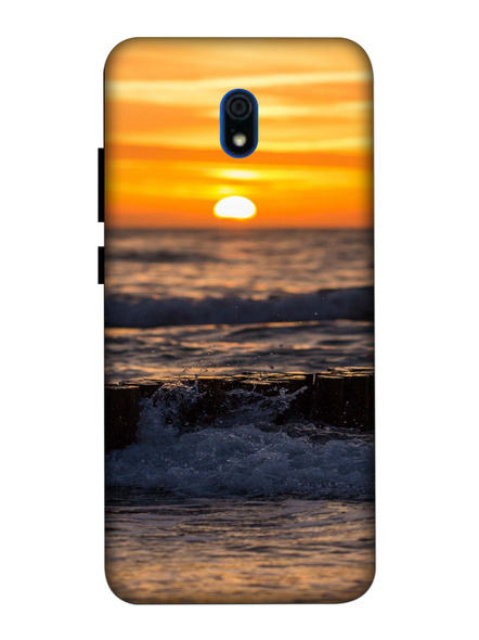 Xiaomi 3D Designer Beach Sun Set Printed Mobile Cover-Redmi8A-MOB002702