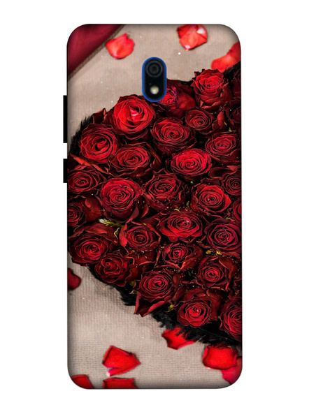 Xiaomi 3D Designer Beautiful Rose Love Printed Mobile Cover-Redmi8A-MOB002716