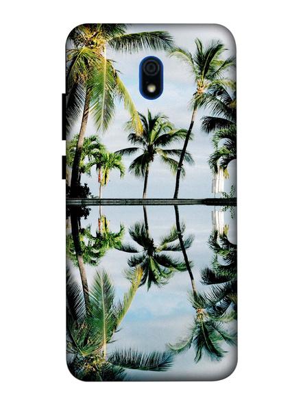Xiaomi 3D Designer Coconut Tree Printed Mobile Cover-Redmi8A-MOB002964