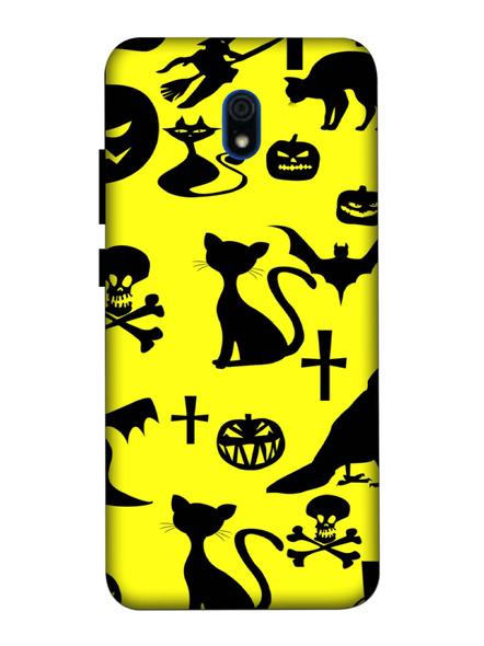 Xiaomi 3D Designer Cute Cat and Bat Printed Mobile Cover-Redmi8A-MOB002985