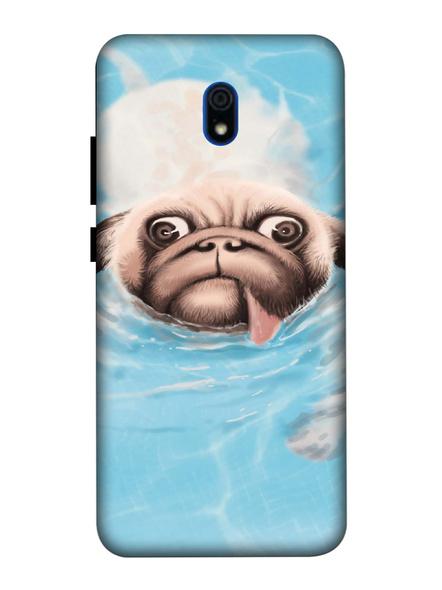 Xiaomi 3D Designer Cute Pug Face Printed Mobile Cover-Redmi8A-MOB002993