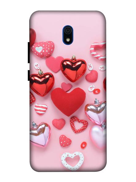 Xiaomi 3D Designer Elegent Pink Hearts Printed Mobile Cover-Redmi8A-MOB003002