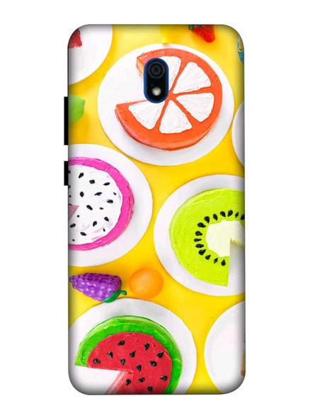 Xiaomi 3D Designer Fruits Donats Printed Mobile Cover-Redmi8A-MOB003014