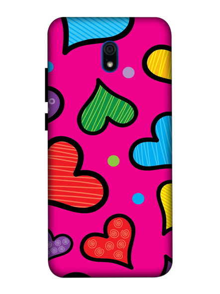 Xiaomi 3D Designer Heart Painting Printed Mobile Cover-Redmi8A-MOB003025