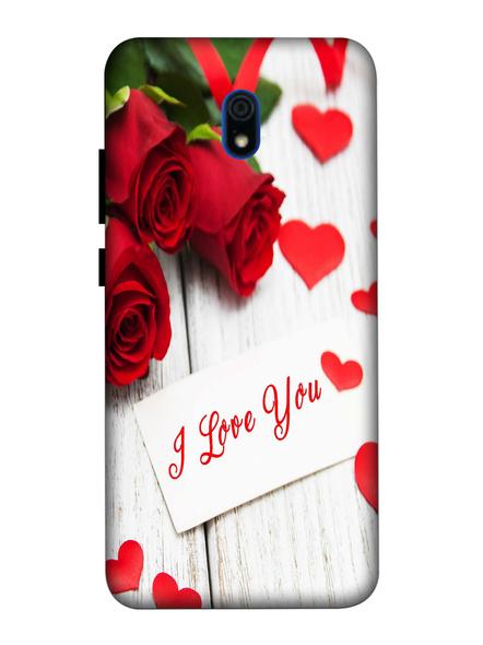 Xiaomi 3D Designer I Love You Roses Printed Mobile Cover-Redmi8A-MOB003030