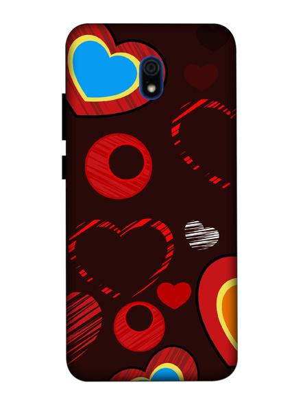 Xiaomi 3D Designer Love Hearts Printed Mobile Cover-Redmi8A-MOB003053