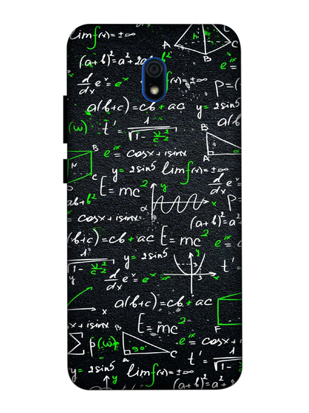 Xiaomi 3D Designer Maths Formulas Printed Mobile Cover-Redmi8A-MOB003063