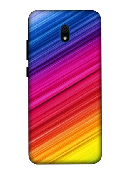Xiaomi 3D Designer Multicolor Lines Printed Mobile Cover-Redmi8A-MOB003068
