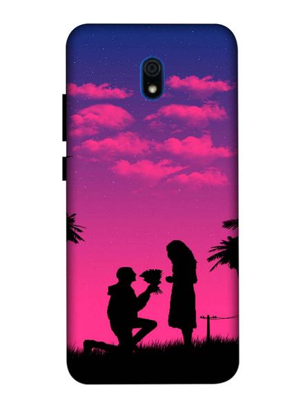 Xiaomi 3D Designer Proposing Couple Printed Mobile Cover-Redmi8A-MOB003077