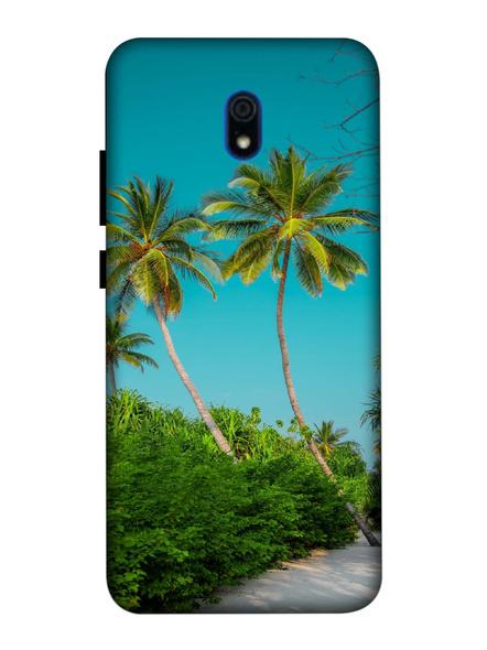 Xiaomi 3D Designer Sea Beach Tree Printed Mobile Cover-Redmi8A-MOB003089