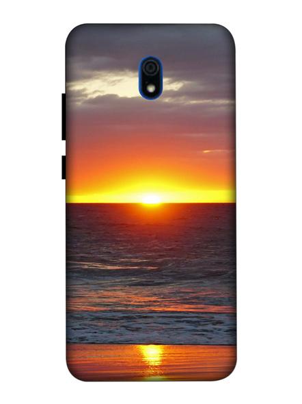 Xiaomi 3D Designer Sea View Sun Set Printed Mobile Cover-Redmi8A-MOB003090