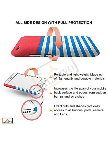 Xiaomi 3D Designer Skyblue Lines Printed Mobile Cover-2