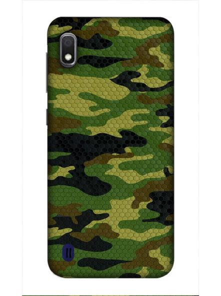 Samsung 3D Designer Army Pattern Printed  Mobile Cover-SamsungA10-MOB002410