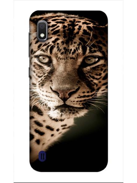 Samsung 3D Designer Leopard Face Printed  Mobile Cover-SamsungA10-MOB002993