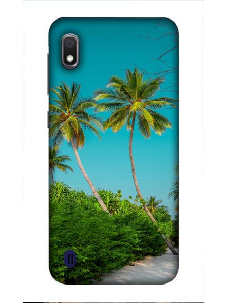 Samsung 3D Designer Sea Beach Tree Printed  Mobile Cover-SamsungA10-MOB003029