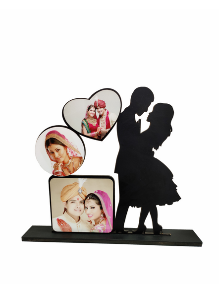 Personalized Proposing Couple 3 Photo Standing Couple Frame-Cuplfrm002aa