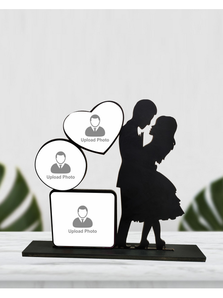 Personalized Proposing Couple 3 Photo Standing Couple Frame-1