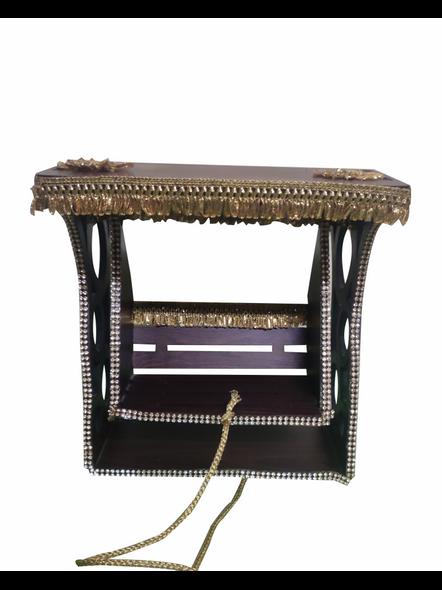 Wooden Decore laddu Gopal Jhula- Krishna Ji Jhula-kanhaJh001aa