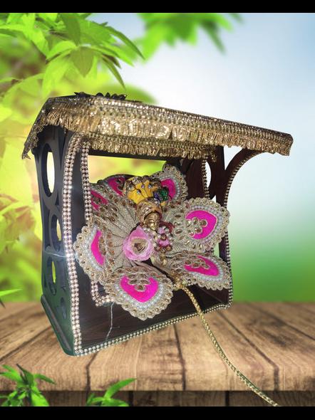 Wooden Decore laddu Gopal Jhula- Krishna Ji Jhula-1