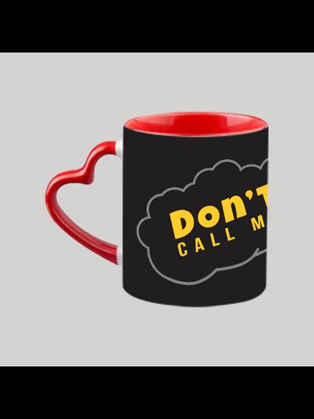 Don't call me Golu heart handle Mug-Red Inner & Handle-4