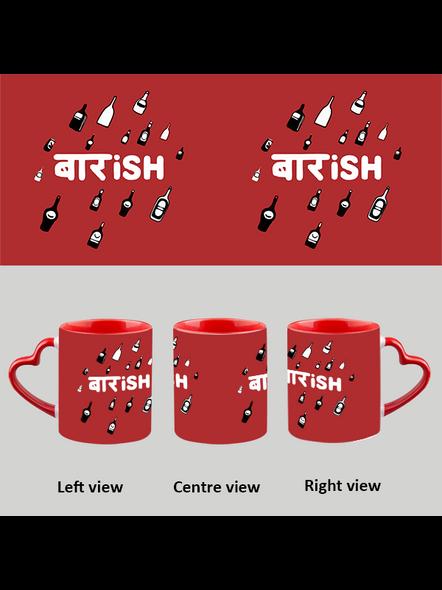 Baarish heart handle Mug-Red Inner & Handle-1