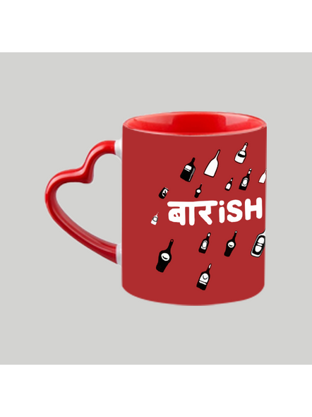 Baarish heart handle Mug-Red Inner & Handle-5