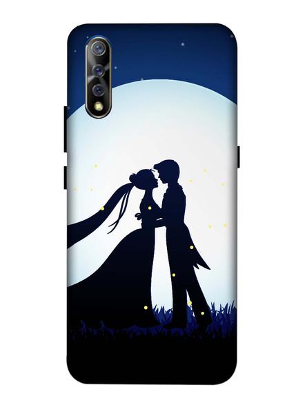 Vivo 3D Designer Couple Kissing on Moon Printed Mobile Cover-VivoS1-MOB002968