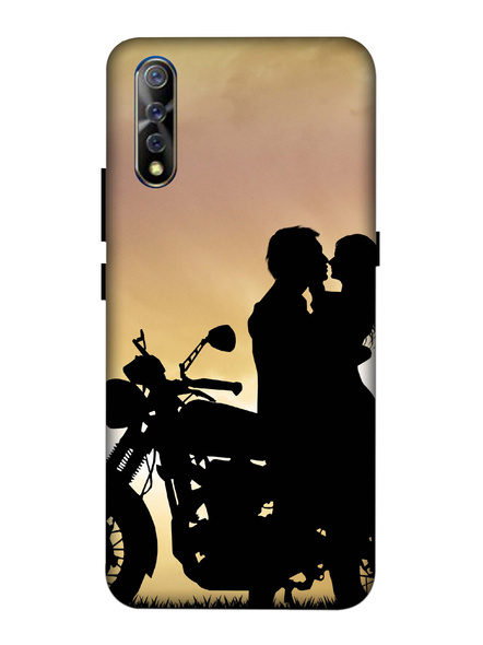 Vivo 3D Designer Couple on Bike Printed Mobile Cover-VivoS1-MOB002981