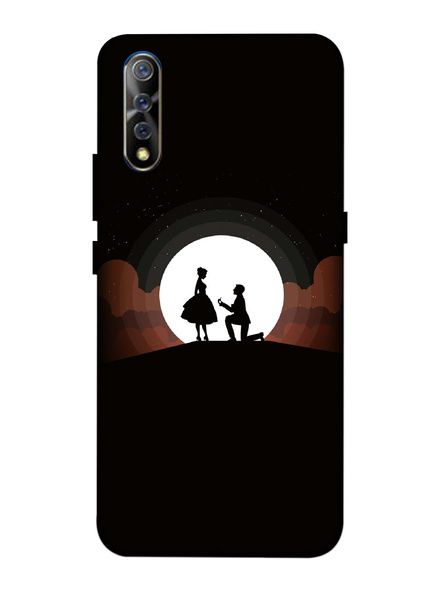 Vivo 3D Designer Couple Proposing with Ring Printed Mobile Cover-VivoS1-MOB002983