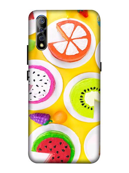Vivo 3D Designer Fruits Donuts Printed Mobile Cover-VivoS1-MOB003014