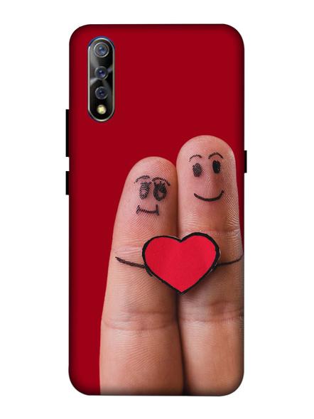 Vivo 3D Designer Love Emojies on Finger Printed Mobile Cover-VivoS1-MOB003051