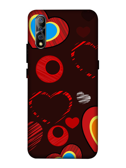 Vivo 3D Designer Love Hearts Printed Mobile Cover-VivoS1-MOB003053
