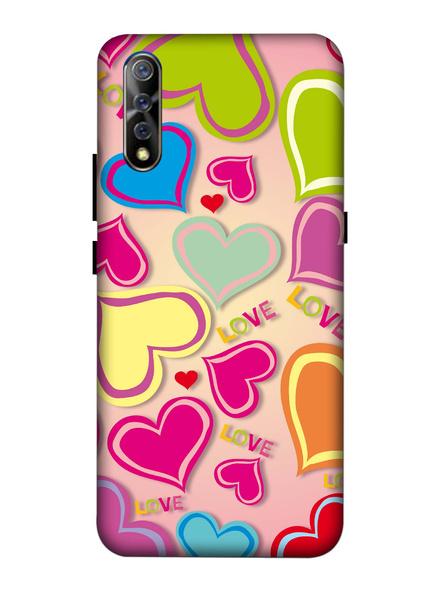 Vivo 3D Designer Multi Colorful Hearts Printed Mobile Cover-VivoS1-MOB003067