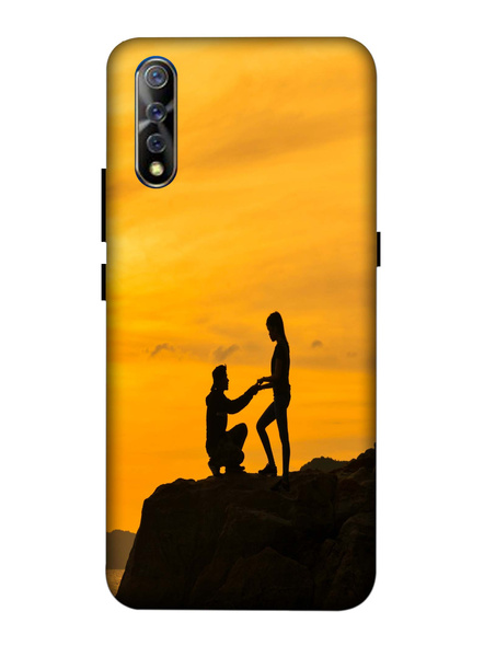 Vivo 3D Designer Proposing Couple View Printed Mobile Cover-VivoS1-MOB003079