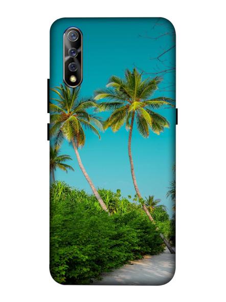 Vivo 3D Designer Sea Beach Tree Printed Mobile Cover-VivoS1-MOB003089
