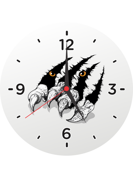 Eagle Foot Printed Customised Round Wall Clock-ROUNDCLOCK0004