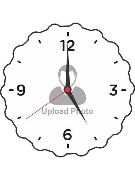 Create Your Own Sunflower Shaped Customised Wall Clock-SUNFCLOCK0001