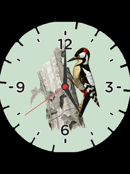 Bird Designer Printed Wheel Shaped Personalized Wall Clock-WHEELCLOCK0009