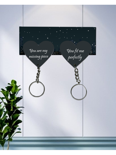 You are my missing Piece Hanging Heart Designer Keychain Holder-HKEYH0007A