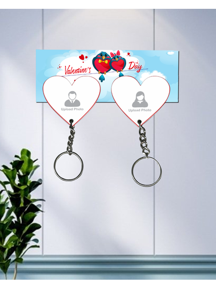 Valentines Day hanging Hearts Personalized Keychain Holder-HKEYH0012A