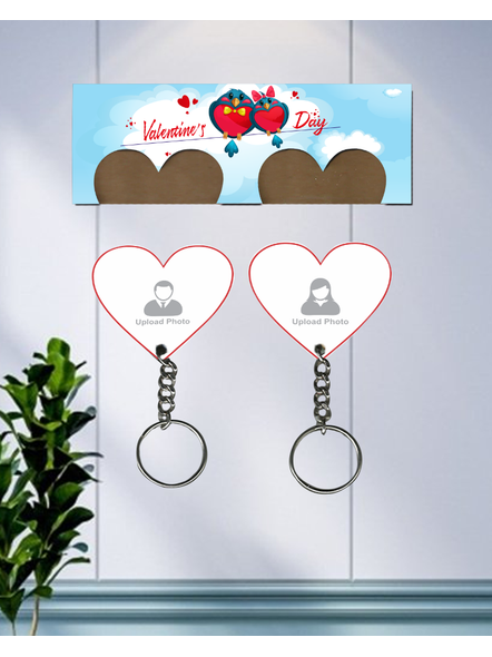 Valentines Day hanging Hearts Personalized Keychain Holder-3