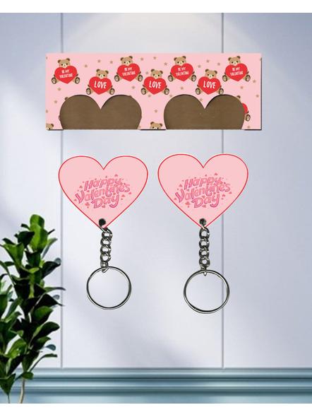 Teddy Love Valentines Hanging Hearts Designer Keychain Holder-2
