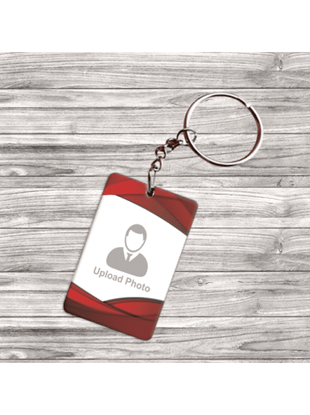 Insta Profile with Red Boundry Double Side Big Rectangle keychain-1