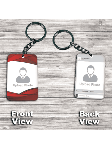 Insta Profile with Red Boundry Double Side Big Rectangle keychain-3