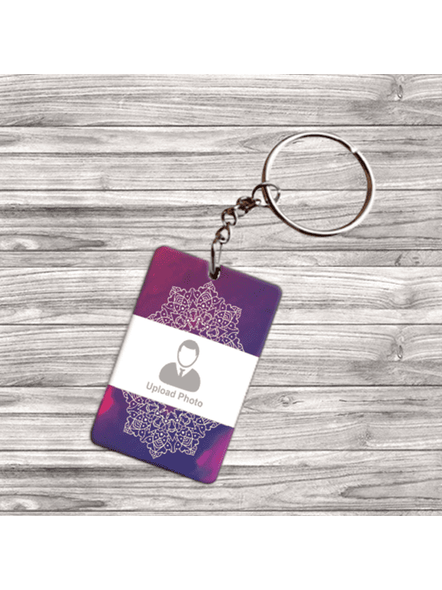 Sunflower Printed Customised Double Side Rectangle keychain-DSRECKC0007A