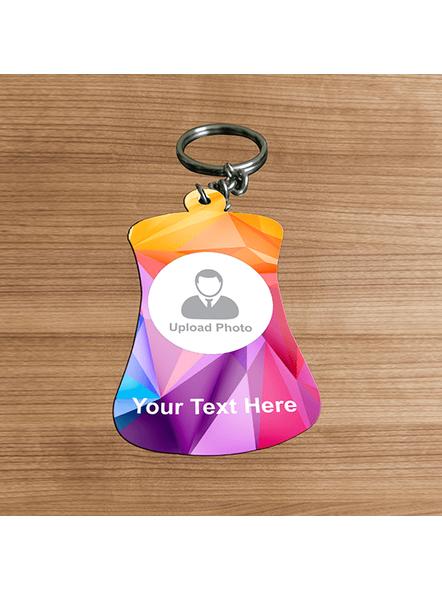 3D Multicolour Personalized Bottle Shaped keychain-BOTTLEKC0005A