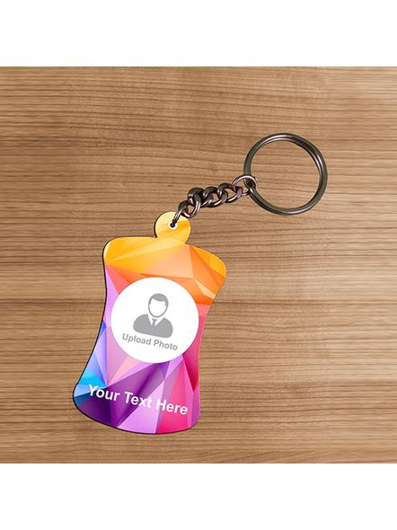3D Multicolour Personalized Bottle Shaped keychain-3