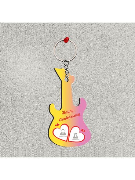 happy Anniversary Personalized Guitar Keychain-2